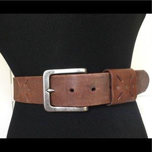 Jcrew leather belt rivets brown size med
